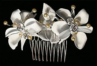 French Garden Bridal Comb