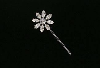 Rhinestone hairpin - Vintage inspired - Antique Daisies Bridal Bobby Pin