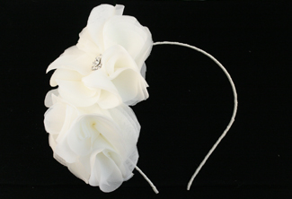 Naugi Chanel Silk Flower Bridal Headband