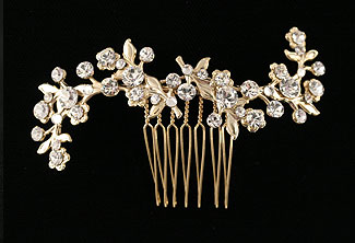 Rhinestone Bridal Headpiece -  Style Little Arcs Comb with Swarovski Crystal