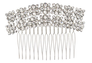 Bridal crystal headpiece - Hair Comb - Back piece - Art Deco, vintage look - Style Ava Wedding Comb with Swarovski Crystal