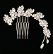 Bridal Hair Comb, Wedding Hair Piece with Swarovski Crystal, Leaves and Vines, Rhinestone Side Comb, COCO COMB
