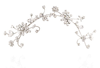 Bridal Hair Vine - Honeysuckle Rose Wedding Headpiece