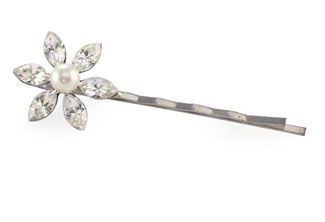 Daisy Bell Crystal and Pearl Hairpin