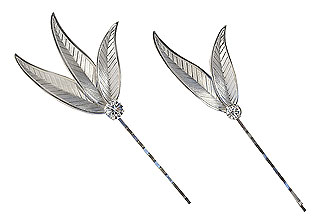 Finch Feather Bobby Pin Set