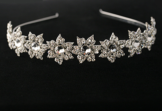 Wedding Headband - Crystal Headpiece - Vintage Wedding - Star Ruby Bridal Headband