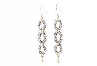 Silver Dawn Long Earring