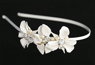 French Garden Bridal Headband