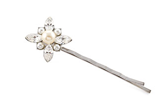 Petals Pearl and Crystal Bobby Pin