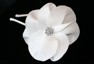 American Beauty Silk Flower Bridal Headband