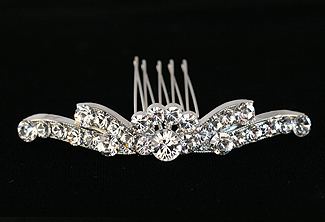Lady Slipper Crystal Bridal Comb