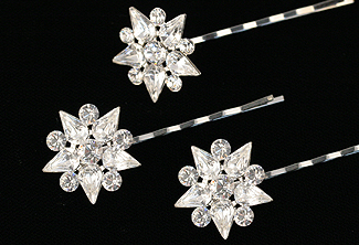Crystal Bobby Pin Set - Rhinestone Hair Pin - Anjou Bridal Bobby Pin